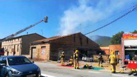 Extingit un incendi en una habitatge a Sant Martí de Torroella, a tocar Callús