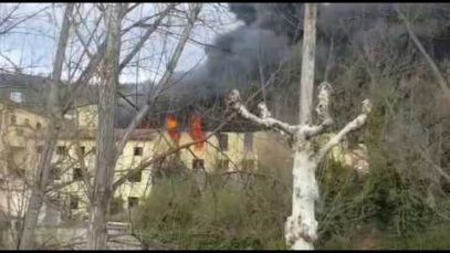Incendi a Sant Quirze de Besora