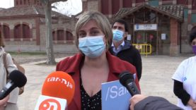 L'Escorxador d'Igualada s'estrena com a punt de vacunacions amb la visita de Vergés