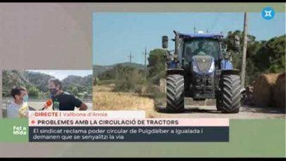 Fet a mida – Unió de Pagesos demana que els tractors puguin circular per la C-15