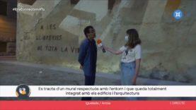 """Descobrim el mural """"Homenatge a les llibreries"""" d'Igualada"""