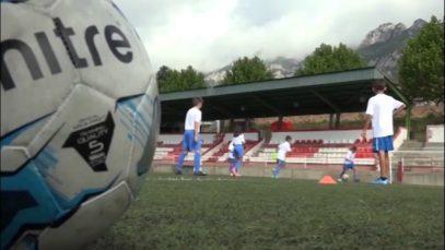 1a edició del campus de futbol de l'Espanyol organitzada a Berga