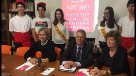 L'institut Lluís de Peguera presenta els actes de celebració del seu 90è aniversari