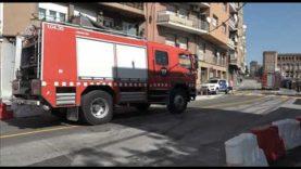 Incendi taller mecànic a Manresa