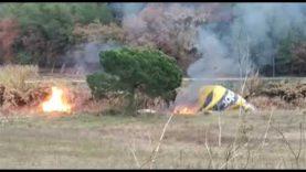Un globus aerostàtic s'incendia a Sallent