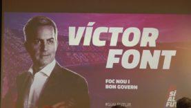 """La candidatura """"Si al Futur"""" encapçalada per Victor Font per a les properes eleccions a la presidència del Barça ha fet parada aquest dilluns a Manresa"""